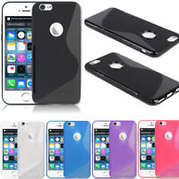 For Apple iPhone SE 5S 5 Colorful S-Shape Ultra-Thin Glossy TPU Skin Case Cover