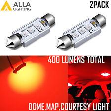 Alla Lighting 3-LED 577 Center High Mount Stop Lamp 3rd Brake Light Bulb Red 2pc