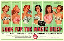 VINTAGE 1950'S AD FOR PERMA LIFT BRAS A3 POSTER REPRINT
