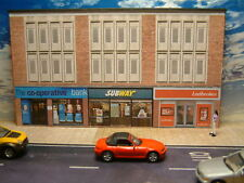 Low Relief Row of Shops, Bank, Subway and Ladbrokes,  Self Assembly Card Kit .