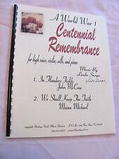 World War I Centennial (In Flanders Fields, We Shall Keep Faith) by Linda Swope