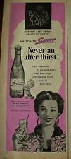 1954 Squirt Soda Bottle Never An After Thirst Ad