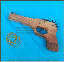 Wooden Pistol rubber band TOY hand gun - legal in Australia