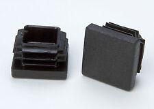 4 hochwertige Rohrstopfen 20x20mm Kunststoff schwarz (6571)