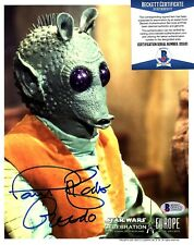 "PAUL BLAKE Signed Autographed 8x10 Greedo ""STAR WARS"" BECKETT #D55121"