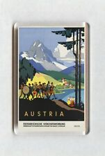 Vintage Travel Poster Fridge Magnet - Austria