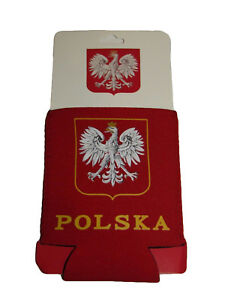 Poland Polish Polska Eagle Collapsible Insulated Printed Can Jacket