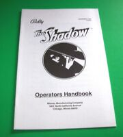 The Shadow Bally Pinball Machine Mini Handbook Original 1994 Condensed Info