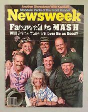 MASH Cast 5x Multi Signed 1983 Newsweek Magazine Cover PSA/DNA LOA M*A*S*H*
