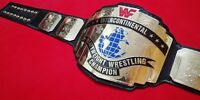 WWF INTERCONTINENTAL RED LOGO CHAMPIONSHIP BELT MADE IN 4MM BRASS PLATES