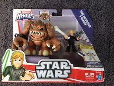 LUKE SKYWALKER & RANCOR RARE GALACTIC HEROES MIB (Box damage) Hasbro Disney (#7)