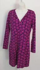 Diane von Furstenberg Reina Floral check tunic dress 8 pink purple navy blue DVF