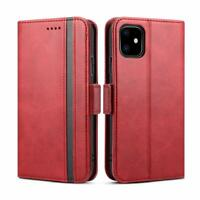 Shockproof Magnetic Flip Leather Wallet Case With Card Slots Stand iPhone 11 Red