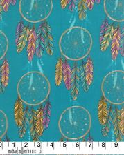 Dream Catcher Turquoise Michael Miller Fabric FQ or Half Metre  More 100%25 Cotton