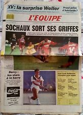 L'Equipe Journal 30/10/1989; XV; la surprise Weller/ Sochaux/ Bercy/ Di Lorto