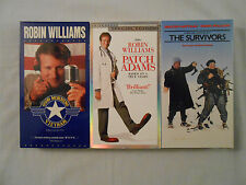 3 Robin Williams Movies VHS Tapes:Good Morning Vietnam/Patch Adams/The Survivors
