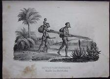 1845c Botokuden litografia H.R. Schinz Honegger Aimoré people Botocudo Brasil