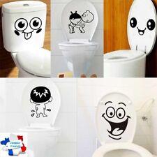 Sticker WC Toilette Abattant Lunette Stickers Autocollant Muraux Décoration