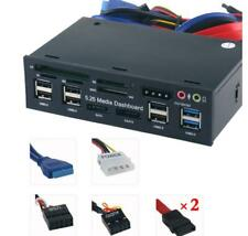 5.25'' PC Front Panel Dashboard Media USB 3.0 Hub Audio eSATA SATA Card Reader