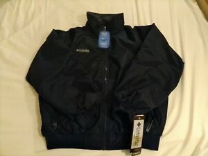 Columbia Men's Falmouth Parka Jacket, Large Navy Blue Fleece Lined Full Zip $80