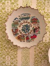 Ceramic State Plate Colorado Vintage 8� decorative colorful colorado