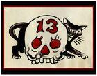 pro print bob shaw vintage 60s tattoo flash black cat 13 skull pike grimm 11x14
