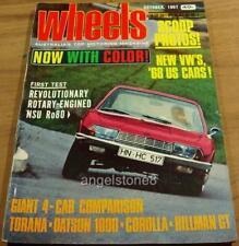 1967.Wheels.FORD CORTINA.RO/80.Torana Hillman GT Corolla.FIAT 124.Gallaher 500