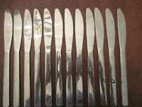 SET of 12 DINNER KNIVES: Vintage WINCO stainless: LOVELY!