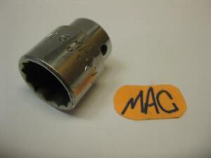"""Mac Tools USA 1/2"""" Drive 15/16"""" SAE 12 Point Chrome Socket V302"""