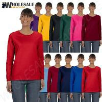 Gildan Womens Long Sleeve T-Shirt 100% Cotton Heavy 5.3 oz Missy Fit MG540L