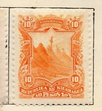 Nicaragua 1893 Early Issue Fine Mint Hinged 10P. 254973