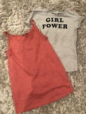 Next Girl Power Tshirt And Strappy Dress Age 7 Bnwt