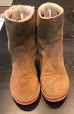 JCREW CREW CUTS Honey Brow Girls' Contrast-sole pull-on boots  Size 3