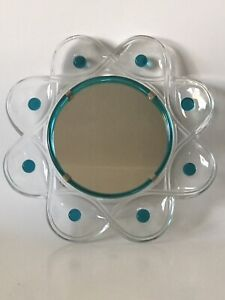 FINE LALIQUE CRYSTAL GLASS FLORIDE MIRROR -SIGNED FRENCH ART NOUVEAU MODERN 1955