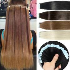 """Blue Tape in 100% Human Hair Extensions THICK Remy Hair Skin Weft 10""""-24"""" US"""