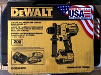 DEWALT DCD991P2 20-Volt MAX XR Drill/Driver (2) Batteries 5Ah, Charger and Case