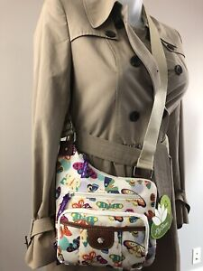NWT Lily Bloom Butterfly Twister Brenda Mid Crossbody Bag /Purse ECO Karma Bloom