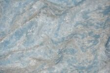 "PANNE VELVET CRUSHED BACKDROP VELOUR STRETCH FABRIC 60"" WIDE BABY BLUE 90 YARDS"
