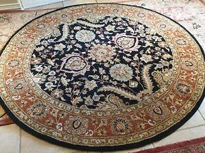 6 round wool rug
