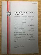 The Aeronautical Quarterly (Royal Aeronautical Society Journal) RARE Nov 1976
