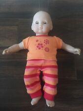 American Girl Bitty Baby Girl Doll Dark Painted Hair And Eyes