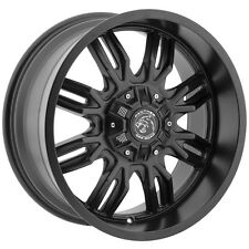 "4-NEW Panther Offroad 580 20x9 5x5""/5x5.5"" +0mm Gloss Black Wheels Rims"