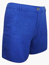 Ex NEXT Ladies Linen Mix Plus Size High Waist Summer Shorts  3 Colours  24-30