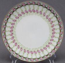 Fischer & Mieg Pirkenhammer Pink Rose & Gold Titanic Luncheon Plate C. 1900 - 18