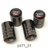 Audi car logo 4x tyre valve metal dust caps gift ideas for him her birthday