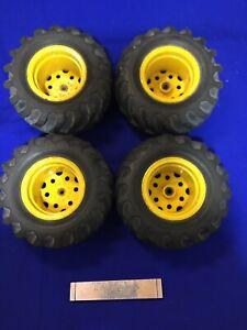 Tamiya Vintage Blackfoot Wheels Tyres Vgc Rc Car Spares Mud Blaster Beetle Parts