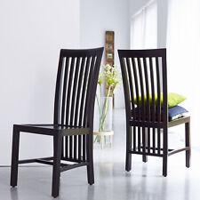 Massive Stühle aus Mahagoni
