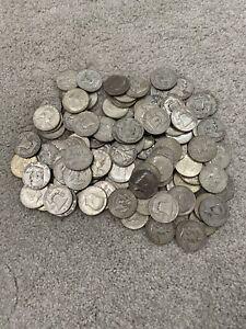 Lot of (100) 90% Silver Half Dollars ~ Circulated