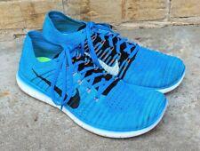 Nike Free RN Run Flyknit Blue white black Running Shoes Men's 11.5 GUC 2015