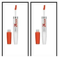 2, Deux Maybelline Superstay 24hr Couleur Liquide Lèvres, 210 non-Stop Orange